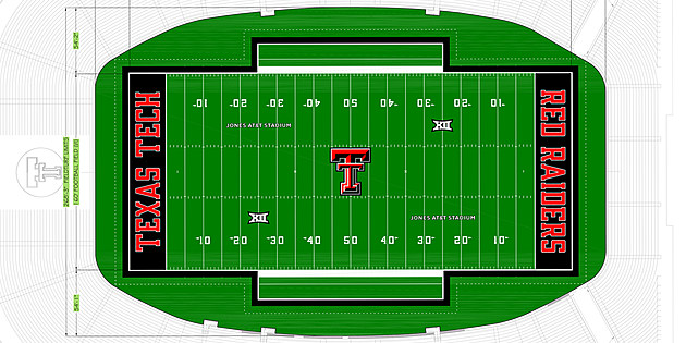 2017 Jones AT&T Stadium New Field Turf Rendering