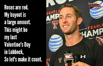Kliff Kingsbury Last Valentine's Day together