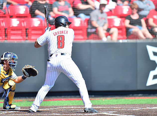 Tanner Gardner Texas Tech Baseball vs Cal